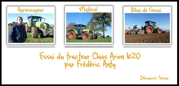 A l'occasion de l'essai du tracteur Claas Arion 620